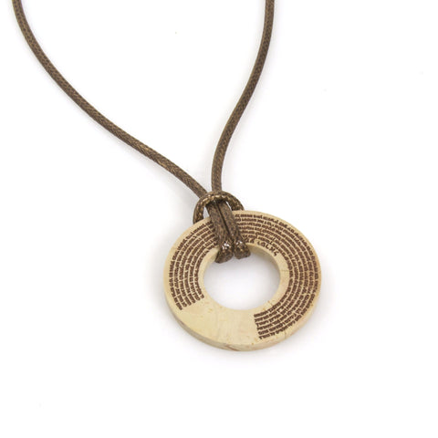 Round Jerusalem Stone Shema Necklace by CJ Art - ModernTribe - 1