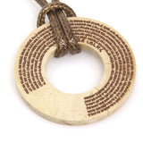 Round Jerusalem Stone Shema Necklace by CJ Art - ModernTribe - 2