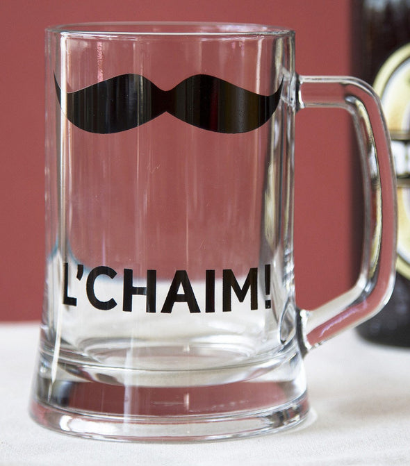 L'chaim! Glass Beer Pint