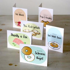 Jewish Noshery Greeting Cards, Set of 6