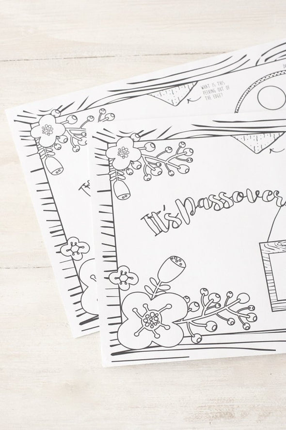 Passover Coloring Placemats