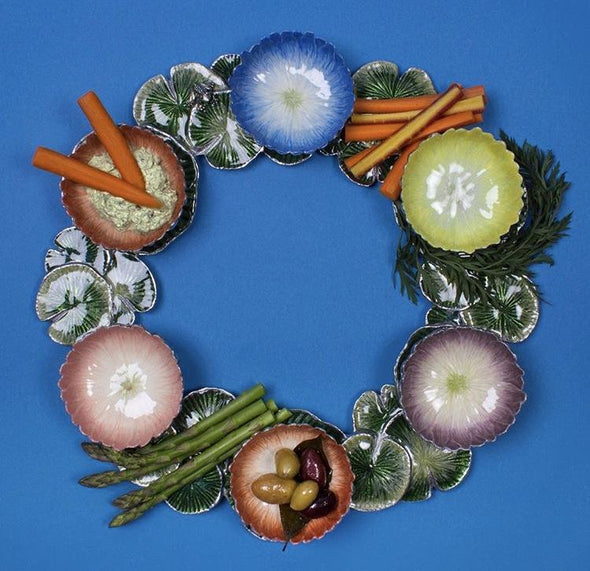 Multi-Color Lotus Seder Plate