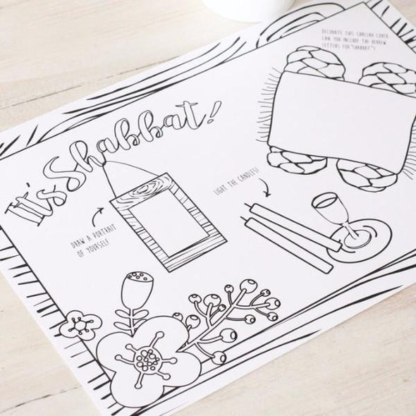 Shabbat Coloring Placemats - ModernTribe