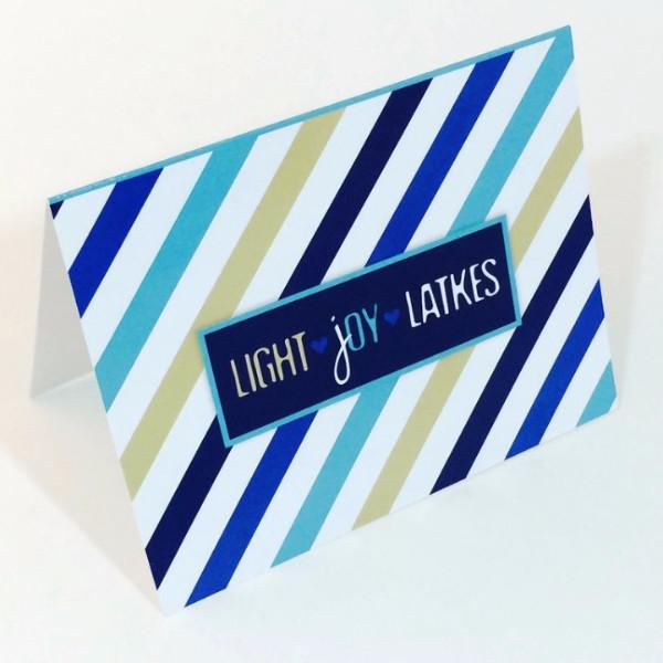 ModernTribe Card Light, Joy, Latkes Hanukkah Card Single