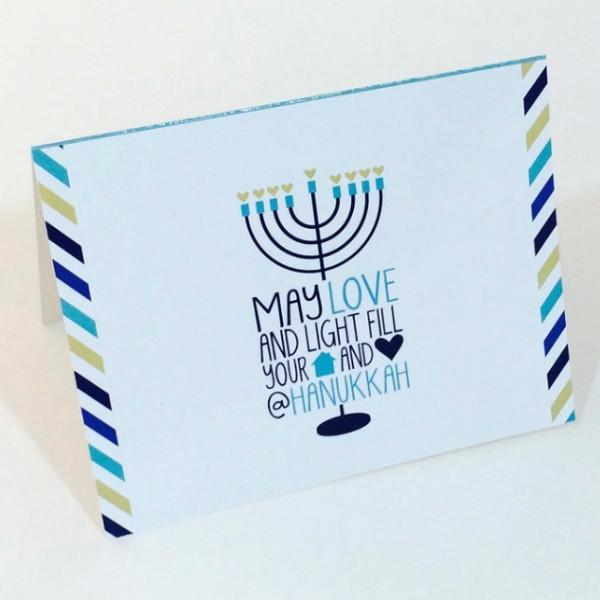 ModernTribe Card May Love & Light Fill Your Home & Heart @ Hanukkah Card Single