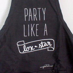 Party Like a Lox Star Apron - Black