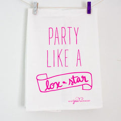 Party Like A Lox Star Towel - Hot Pink