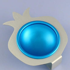 Blue Pomegranate Aluminum Bowl
