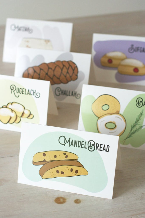 Jewish Baked Goods Note Cards, Set of 6 by Chai and Home - ModernTribe - 2