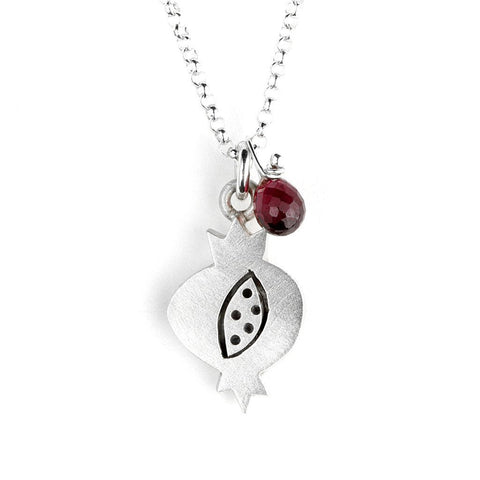 Pomegranate with Garnet Necklace by Emily Rosenfeld by Emily Rosenfeld - ModernTribe