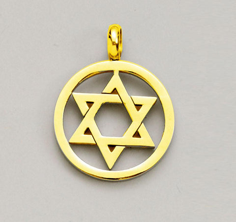 Star of David Gold Plated Pendant by Rite Lite - ModernTribe