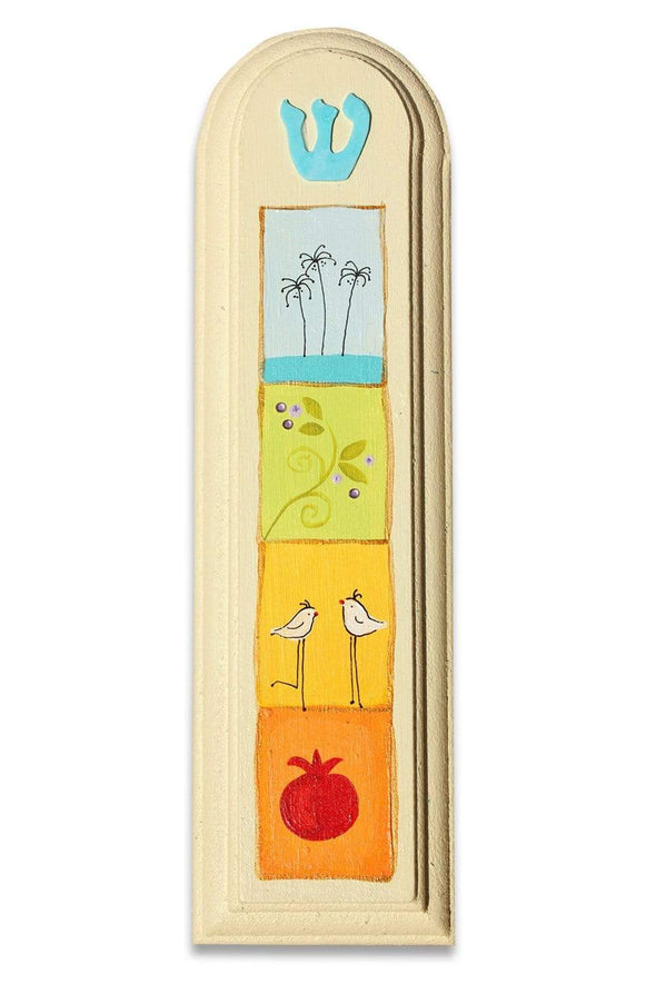Whimsical Hand Painted Mezuzahs by Sharon Goldstein by Sharon Goldstein Happy Judaica - ModernTribe - 15