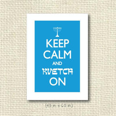 Keep Calm & Kvetch On Greeting Card by Silly Reggie - ModernTribe