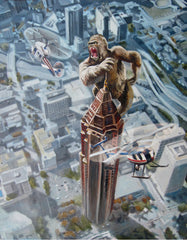 """Willie B. Kong in Atlanta"" - Art Print by Buddy McCue by Buddy McCue - ModernTribe"