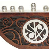 Craftsman Oak Swirl Menorah by Lev Studios - ModernTribe - 2
