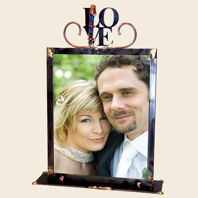 Large Love Wedding Frame with Shards by Gary Rosenthal