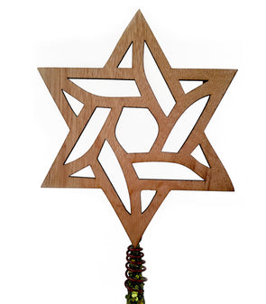 Laser Cut Star of David Tree Topper