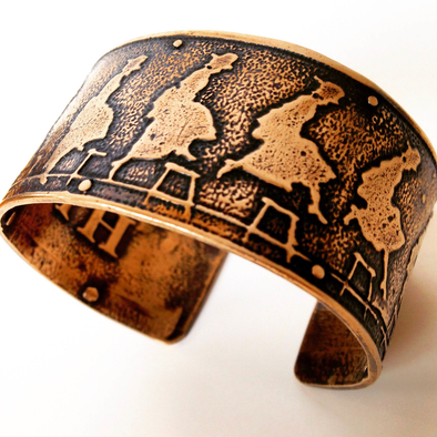 Leap of Faith Bronze Cuff Bracelet by Marla Studio - ModernTribe