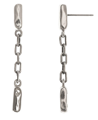 Line Drop Earrings in Sterling Silver by Marla Studio - ModernTribe