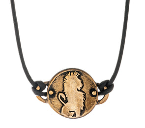 Bronze Lion Medallion Necklace by Marla Studio - ModernTribe - 1