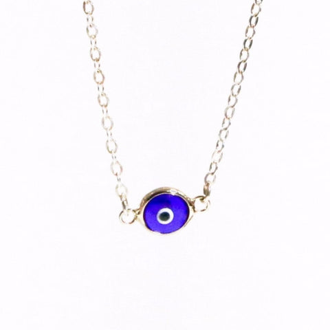 Sterling Silver Eye Necklace by Throwing Stars Jewelry - ModernTribe - 1