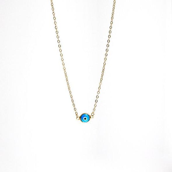 Eye Necklace with Gold Chain by Throwing Stars Jewelry - ModernTribe - 2