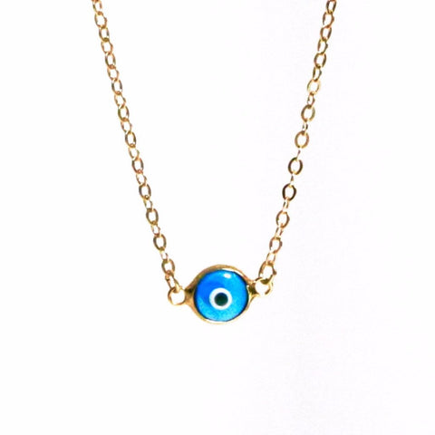 Eye Necklace with Gold Chain by Throwing Stars Jewelry - ModernTribe - 1