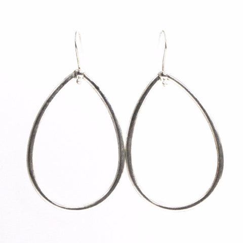 Silver Teardrop Earrings by Throwing Stars Jewelry - ModernTribe - 1