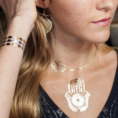Urban Hamsa Metallic Temporary Tattoos