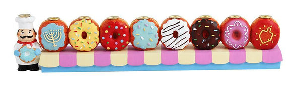 Donut Hand-Painted Menorah