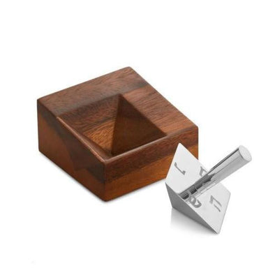 Geo Dreidel with Stand by Nambé