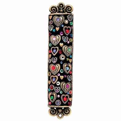 Michal Golan Mezuzah Michal Golan Handmade Heart and Crystal Mezuzah