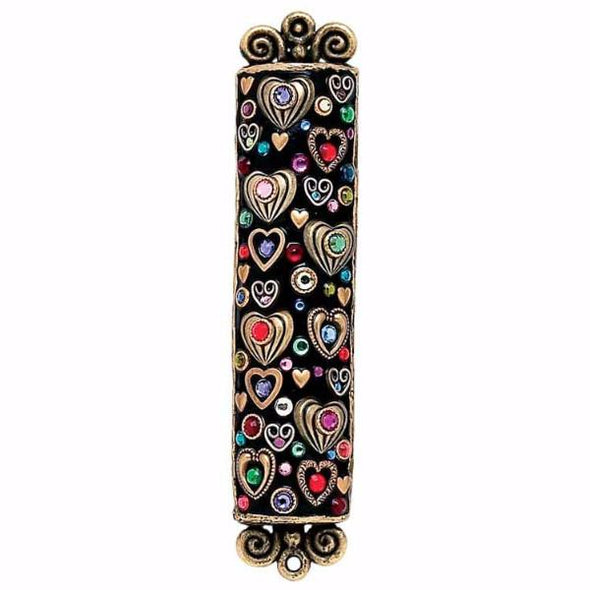Michal Golan Handmade Heart and Crystal Mezuzah