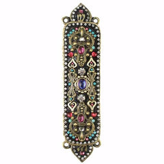Michal Golan Handmade Black and Bright Crystal Mezuzah