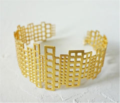 Manhattan Bracelet in Gold by Shlomit Ofir - ModernTribe - 1