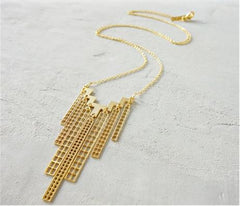 Long Manhattan Necklace in Gold by Shlomit Ofir - ModernTribe - 1