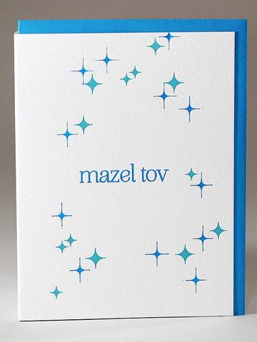 Letterpress Mazel Tov Greeting Card by Kiss and Punch Designs - ModernTribe