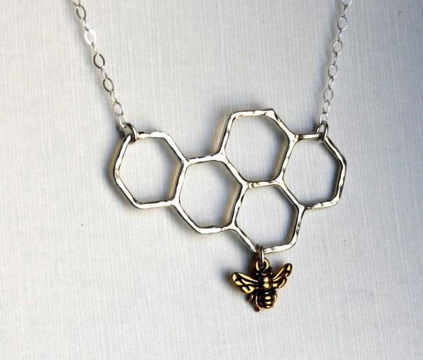Rachel Pfeffer Necklaces Silver Honeycomb Necklace