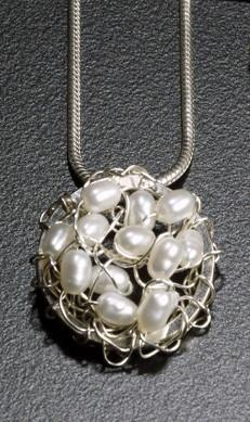 Uncommon Threads Nest Pendant with Pearls by Uncommon Threads - ModernTribe