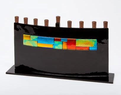 Fused Arc Menorah by Daryl Cohen