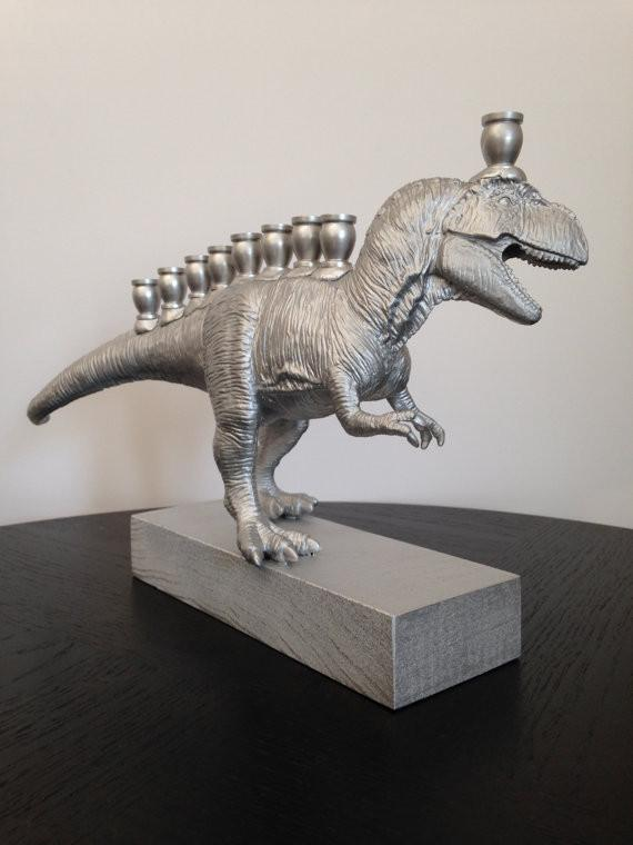 Menorasaurus Rex in Silver - ModernTribe