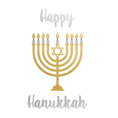 Happy Hanukkah Menorah Temporary Flash Tattoos