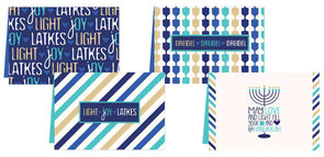 ModernTribe's Light, Joy, Latkes Hanukkah Cards - Set of 8 by ModernTribe - ModernTribe - 1