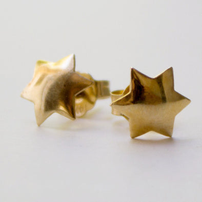 Star of David Earrings in Yellow Gold