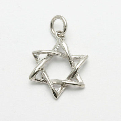 Curvy 14k Gold or White Gold Star of David Pendant - ModernTribe