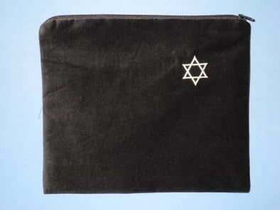 Navy & Silver Tallit Bag by Zion Tallis - ModernTribe