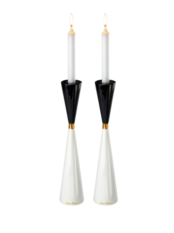 Night and Day Candlesticks - Gold by Laura Cowan