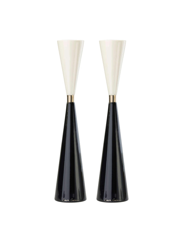 Night and Day Candlesticks - Platinum by Laura Cowan - ModernTribe