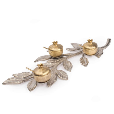 Gold & Silver Pomegranate Branch