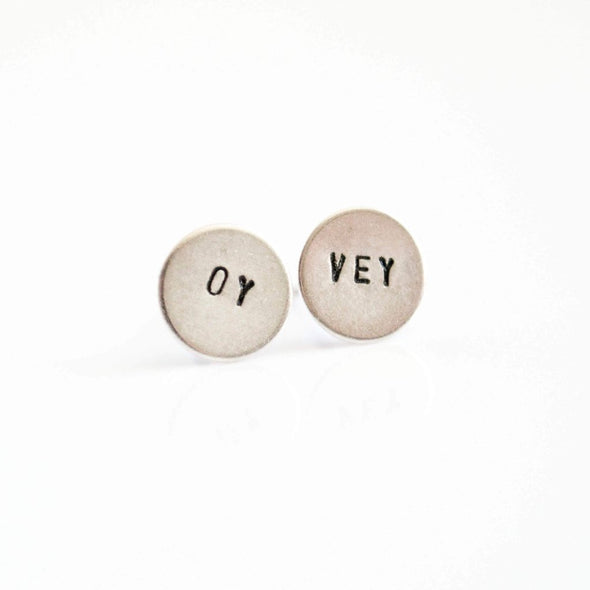 Oy Vey Earrings in Silver - ModernTribe